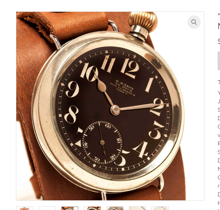 """""""Death from Above"""" Omega 1915 MaRK V Pilot's Watch"""