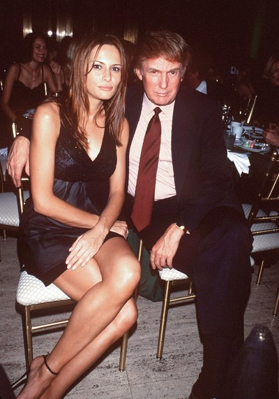 Melania and Donald at Ciprianio's in 1999.jpg
