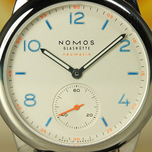 Here's the dial of the #Nomos Club Neomatik because why not?