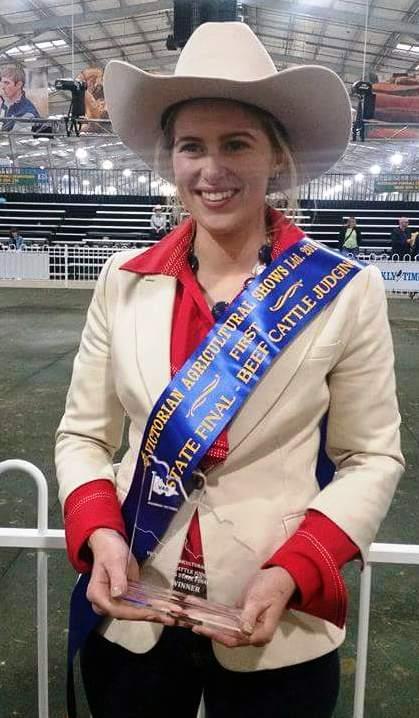 Beef Cattle Judging State Final Winner Jessica Parker