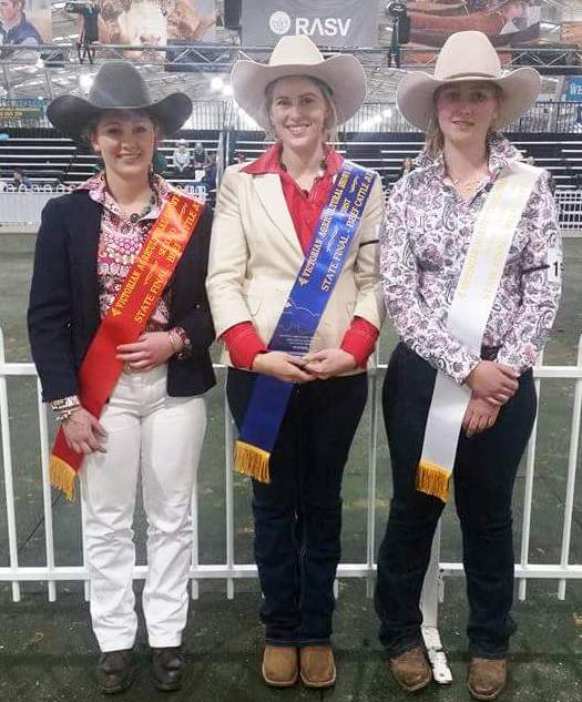 L - R 2nd - Ruby Canning1st Jessica Parker3rd Taylah Sykes