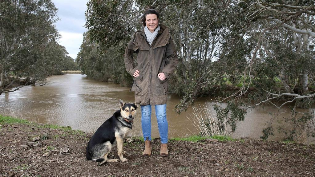 Sophie Crooke and her dog Monty, one of the Rural Ambassador State Finalists. Photo - Courtesy The Weekly Times