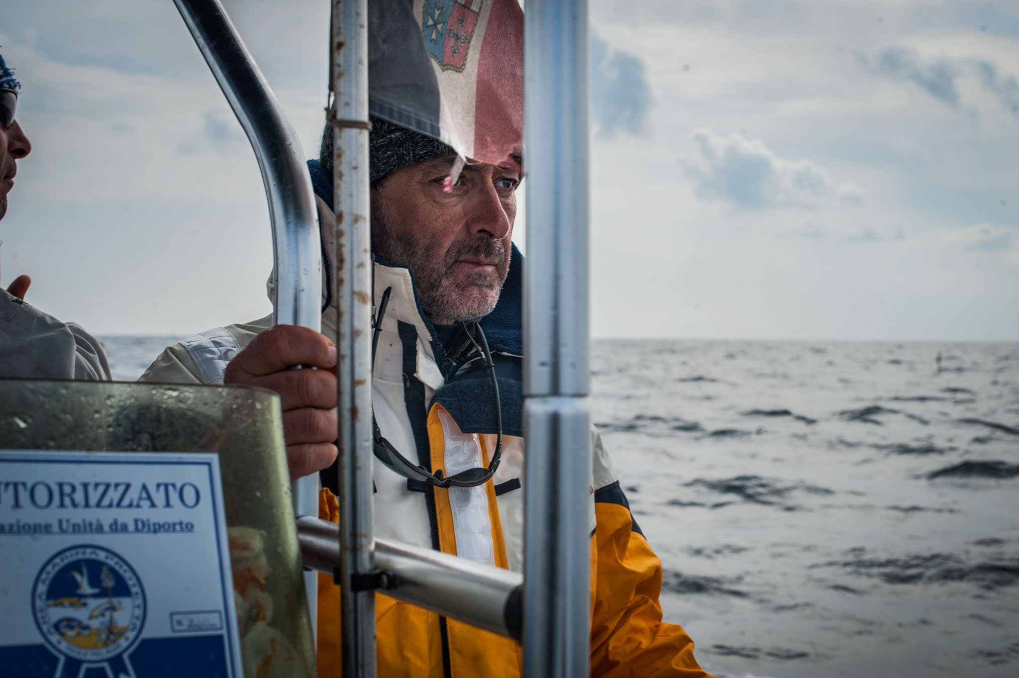 Giancarlo Lauriano (ISPRA Researcher).(Lampedusa, 2017)