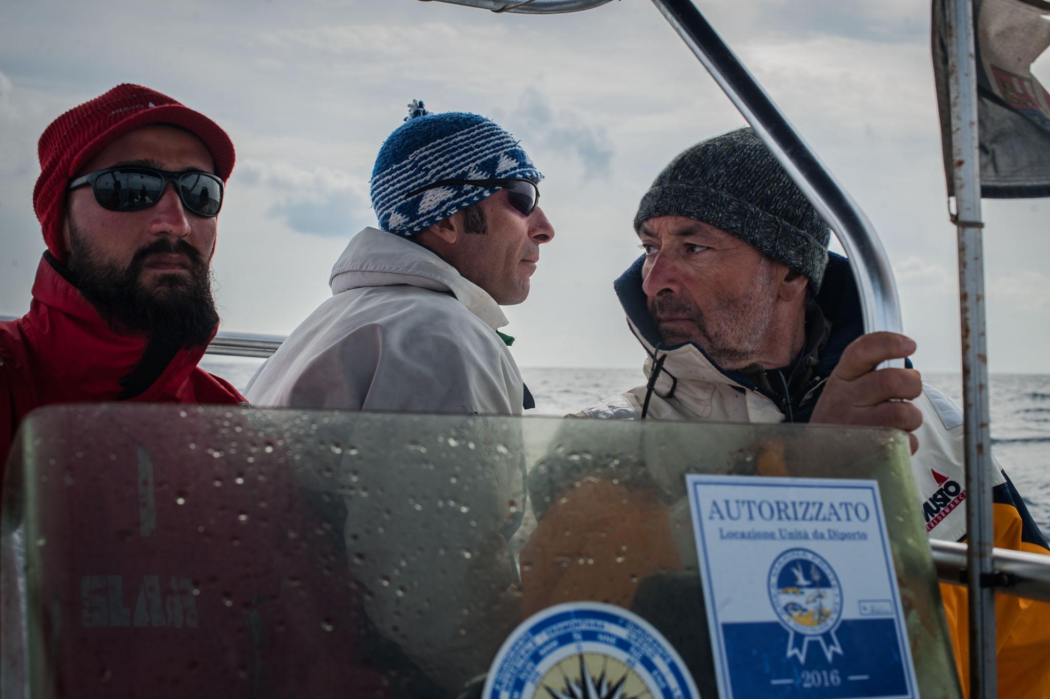 Nino Pierantonio (Tethys Associated Researcher), Simone Panigada (Tethys President), Giancarlo Lauriano (ISPRA). (Lampedusa, 2017(