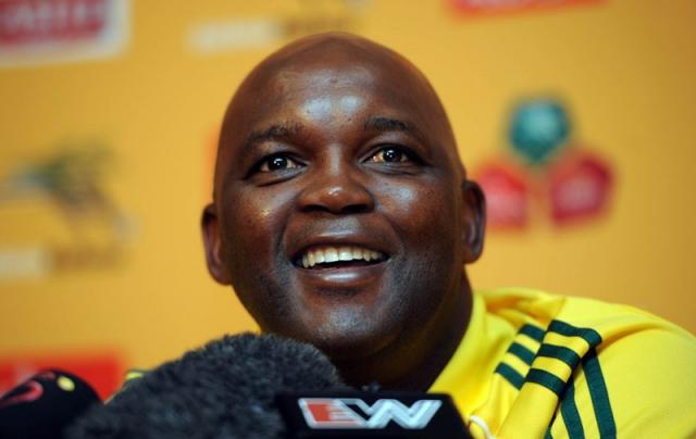 Pitso Mosimane as Bafana Bafana coach 2012. Pitso's philosophy on coaching is entrenched in youth and the future as well as helping those he cares about achieve achieve a better life for themselves and their families through sport. Image from www.pitsomosimane.co.za