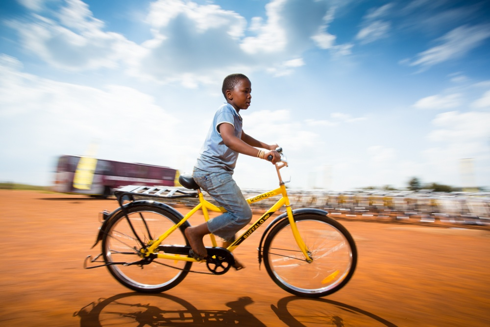 A young child is given the opportunity to make something of himself as well as gain access to a sport he would never have encountered. Image supplied by MTN-Qhubeka.