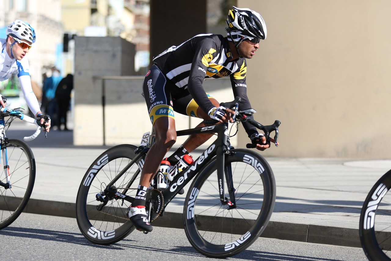 Team MTN-Qhubeka in action. Image supplied by MTN-Qhubeka