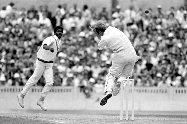 """Michael Holding, AKA """"Whispering Death"""" formed the backbone of the great West Indies fearsome bowling unit during the 1970s and 80s. He earned his knickname for combining an almost silent run-up with blistering pace."""
