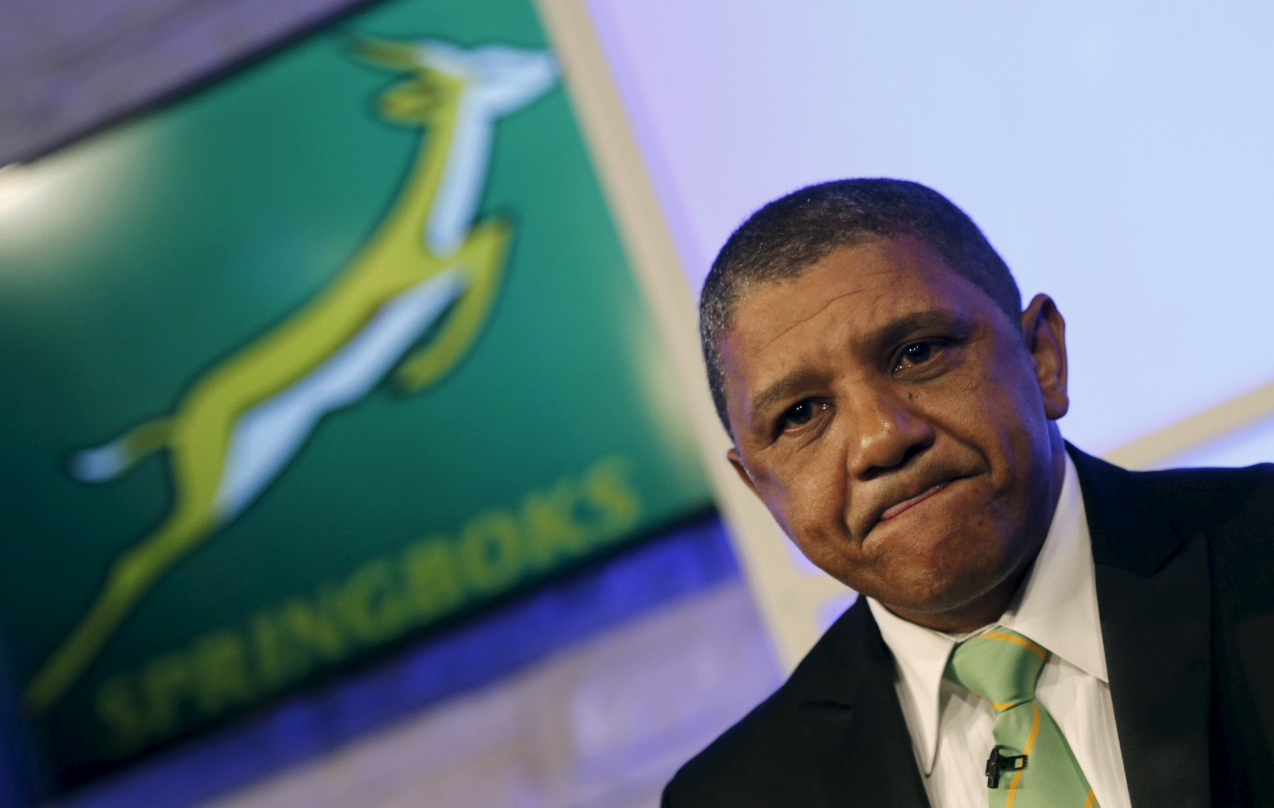 Allister Coetzee looks on after he was unveiled as the South Africa Springboks' new rugby coach in Randburg, outside Johannesburg, Coetzee's squad announcement was met with much excitement and the hope of a dynamic brand of rugby.Image supplied by Action Images / Siphiwe Sibeko.