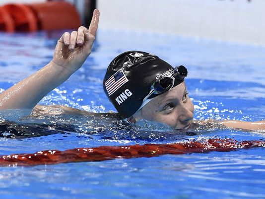 Lilly King wags her finger in Rio. Some might argue that her actions were arrogant, but this ingrained sense of expected dominance has carried USA Swimming to heights no other team can reach.