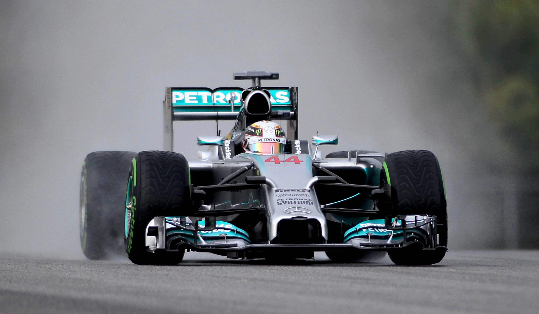 Cognisess's early work has primarily been with young motor racing drivers. Here, Lewis Hamilton of the Mercedes F1 team is in action.