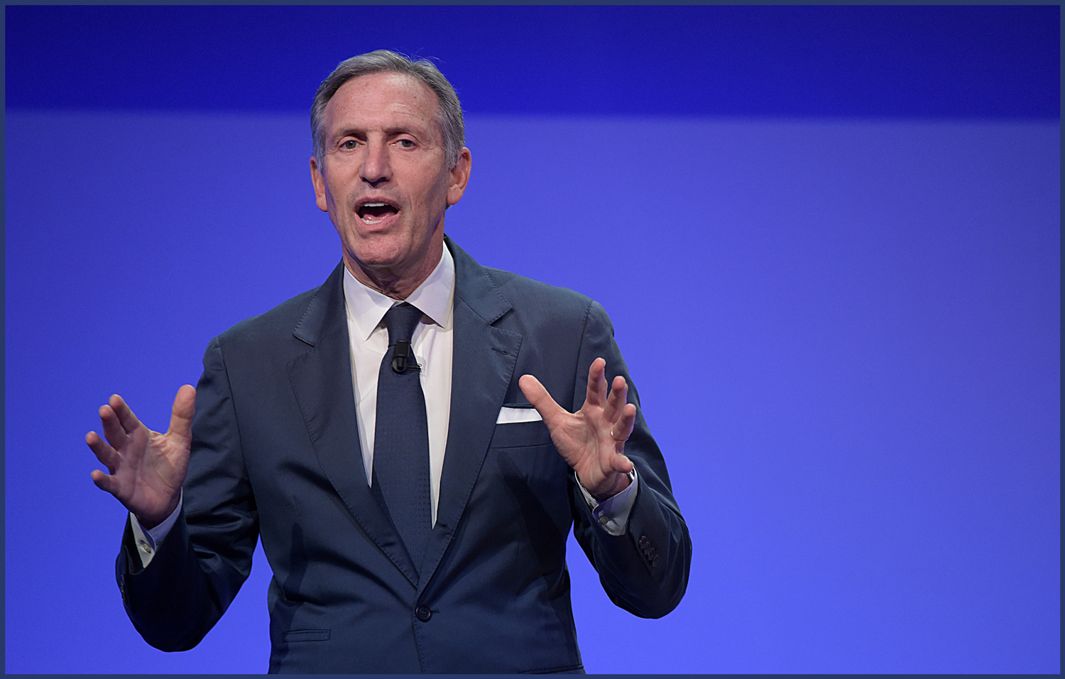 Howard Schultz, Executive Chairman of Starbucks speaks during Seeds & Chips Summit on May 7, 2018 in Milan, Italy - Pier Marco Tacca—Getty Images