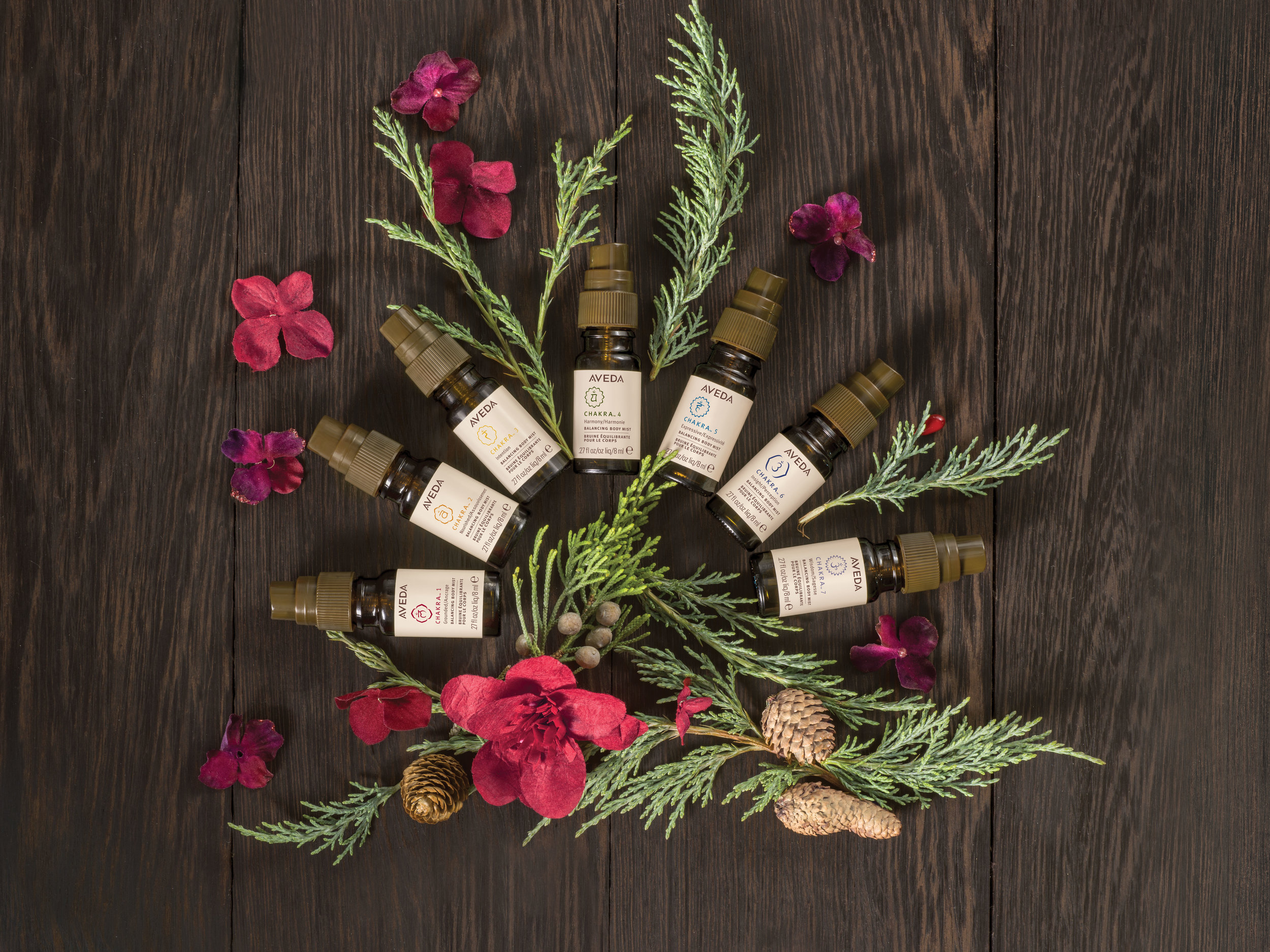 Feeling Balanced is a Gift: $79  chakra™ balancing body mists, 8 ml each