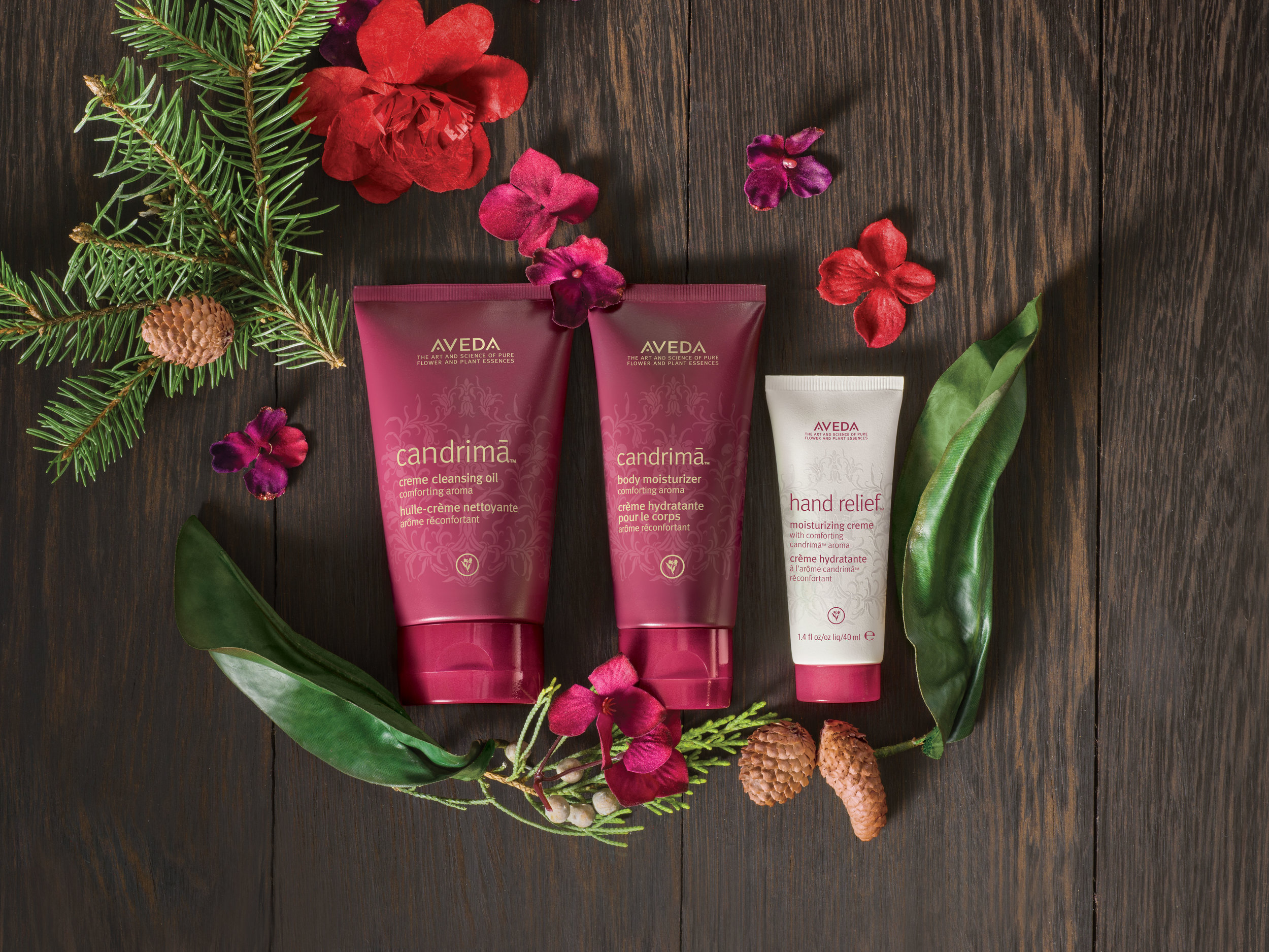 A Gift of Pure Comfort: $39.50  candrimā™creme cleansing oil, 125 ml candrimā™body moisturizer, 75 ml and relief™ moisturizing creme with candrimā™ aroma, 40 ml