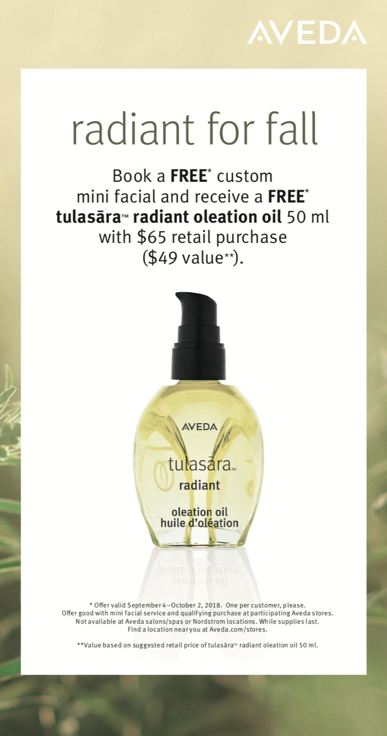 Book a FREE Custom Mini Facial and receive a FREE Tulasara