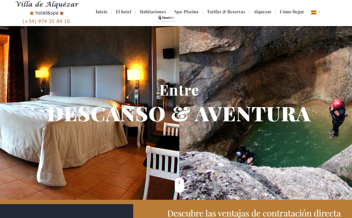 Nueva web para el Hotel Villa de Alquezar