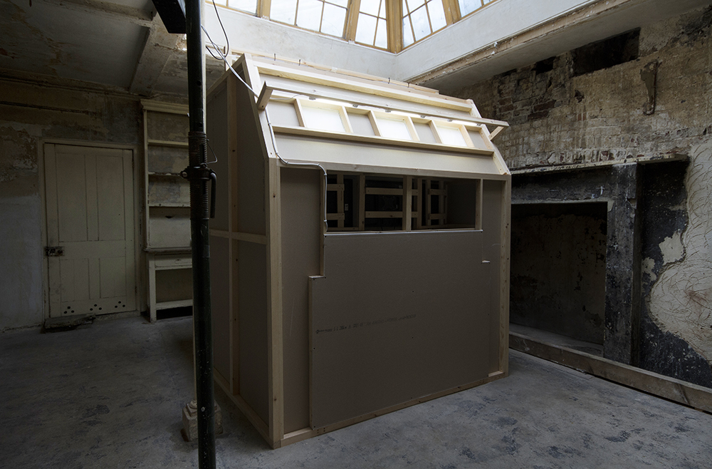 Front view of The Same Face / installed in The Kitchen of The Regency Town House Basement, Brunswick Square, Hove