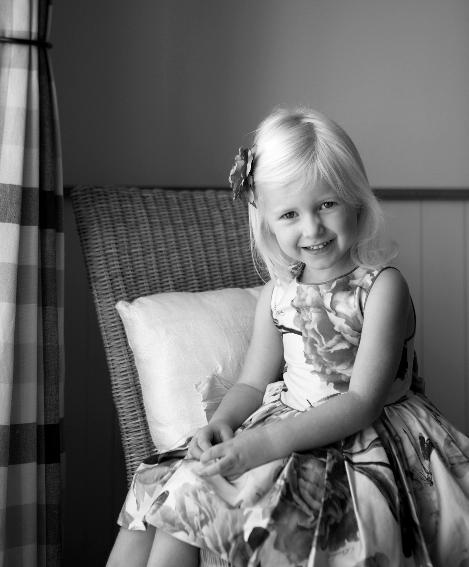 little girl sitting on chair - family photography essex