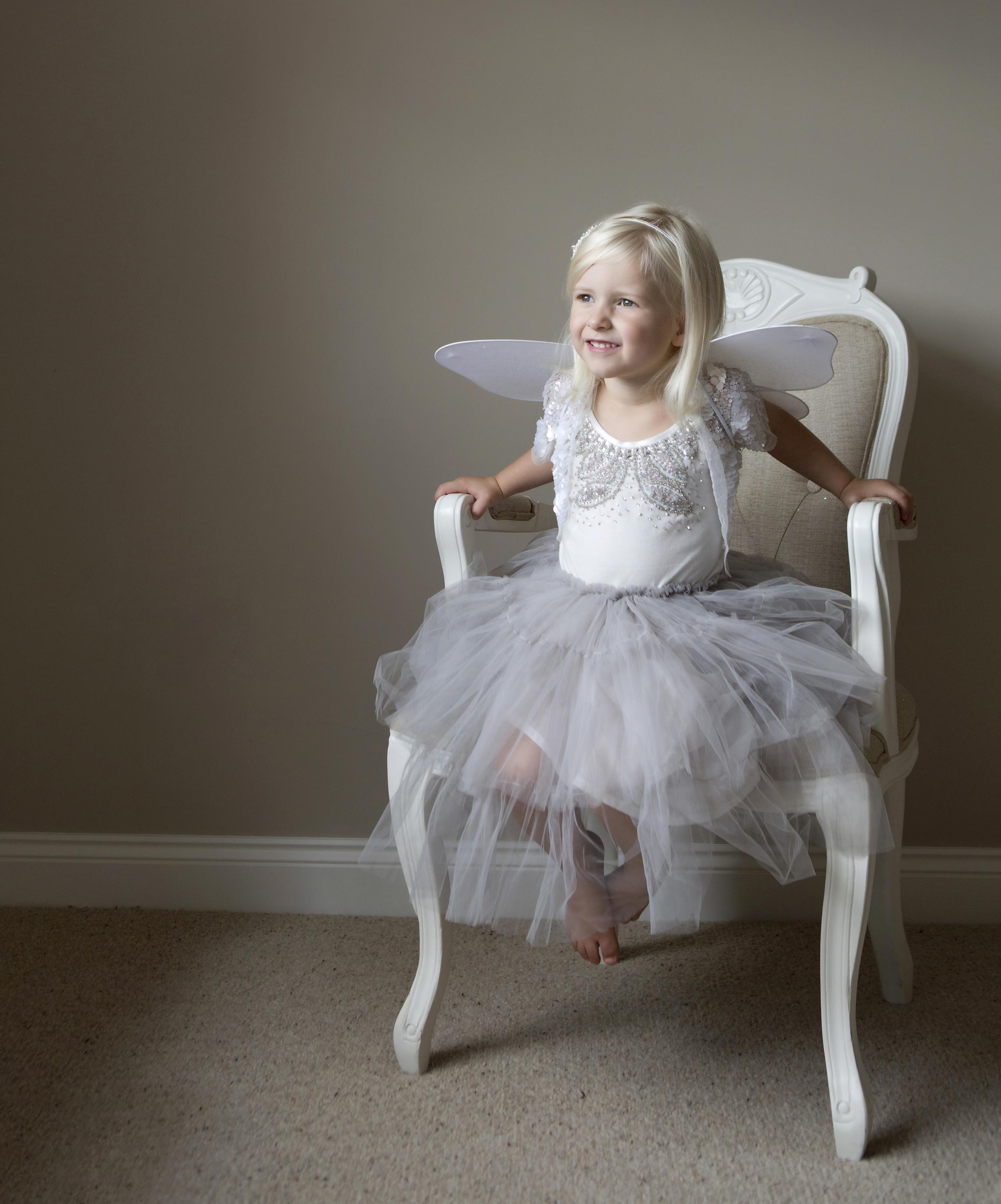 little girl dressed in fairy costume - Family Photographer Essex