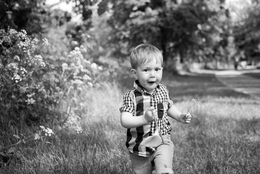 toddler running in park - chelmsford family photography