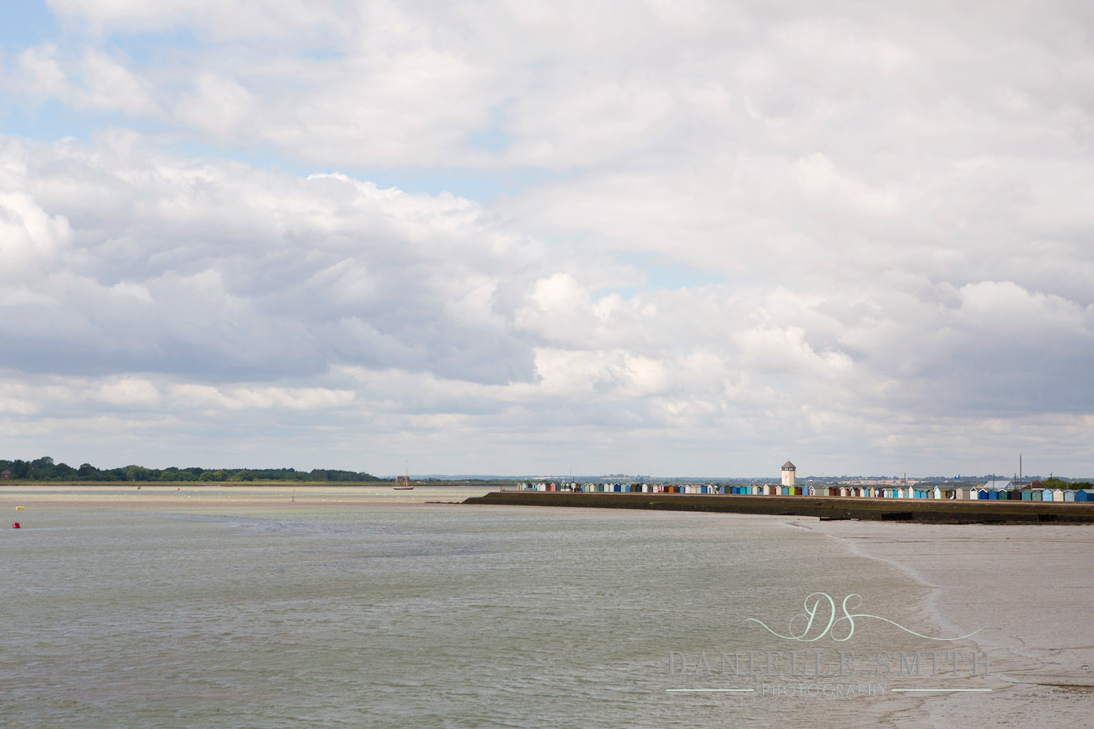 seaside town with beach huts