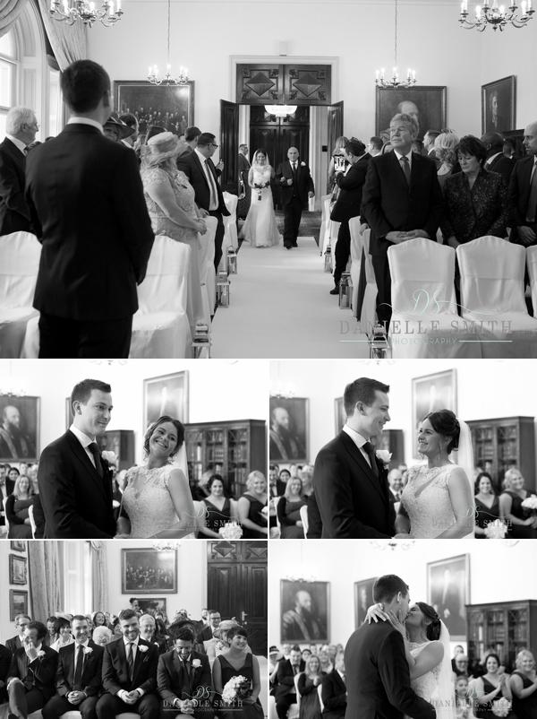 wedding ceremony at Down Hall