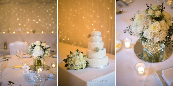 table decor and wedding cake