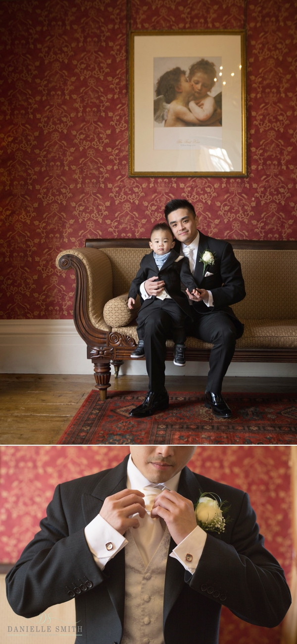 groom and his son - essex wedding