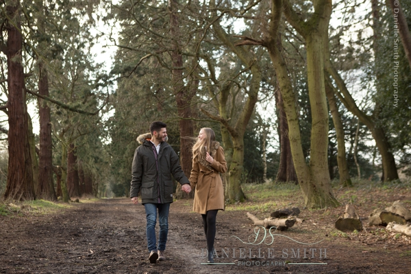 coule waling and looking at each other - pre-wedding photography