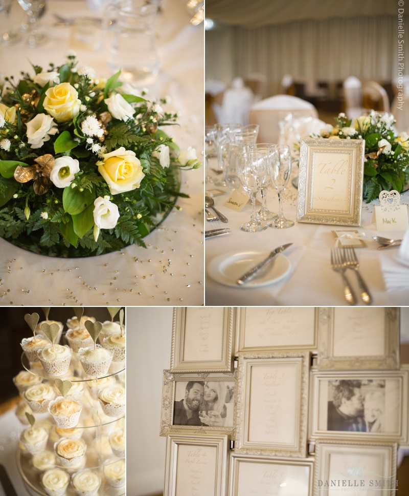 spring wedding table details
