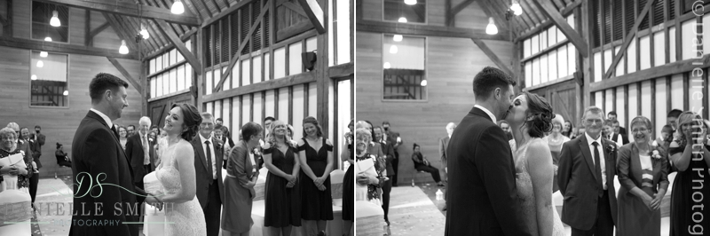 wedding vows at barn wedding