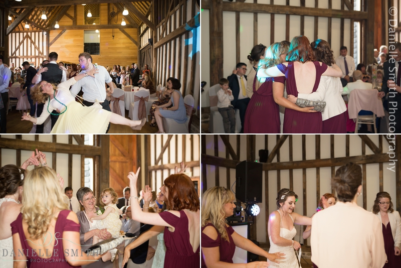 wedding guests dancing - barn wedding in purfleet