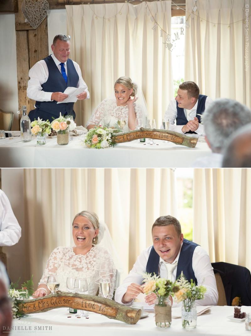 wedding speeches - maidens barn wedding