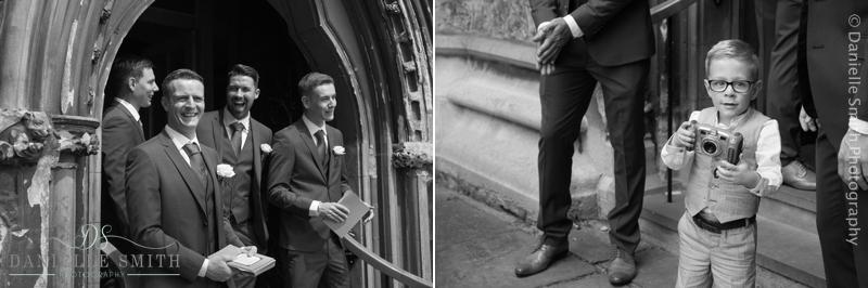 groomsmen waiting at church