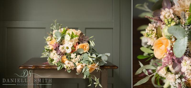 rustic pastel coloured bouquet