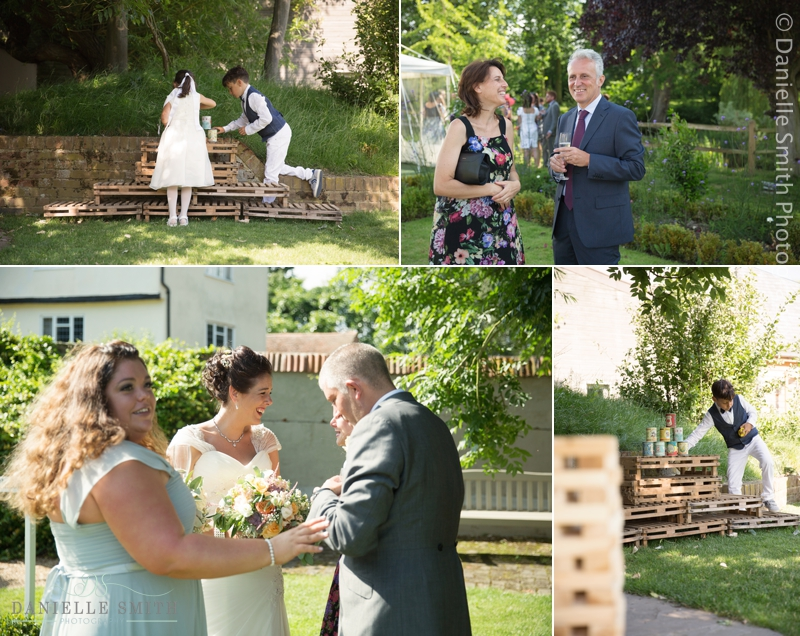 candid photography of wedding guests