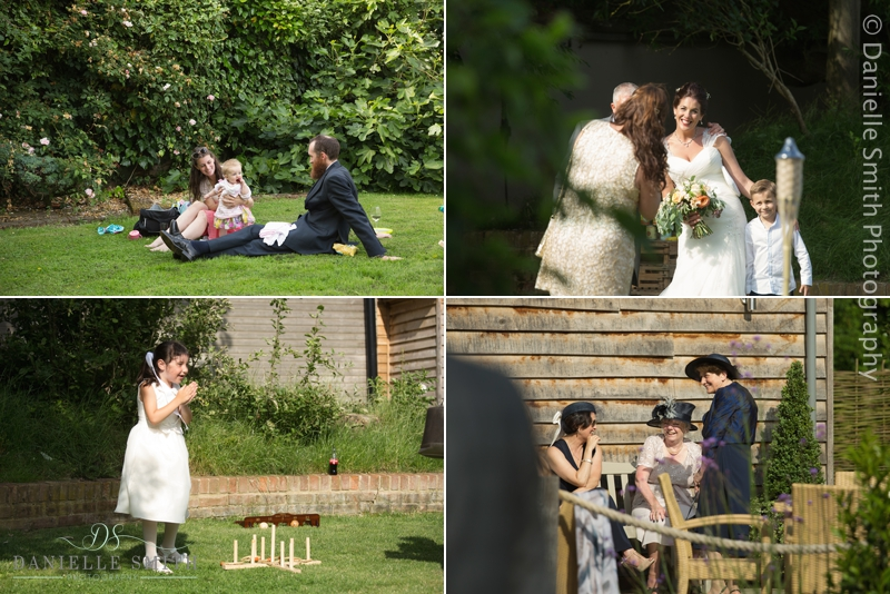 guests enjoying the day at outdoor wedding