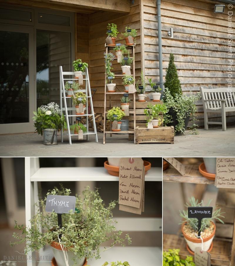 rustic herb table plan