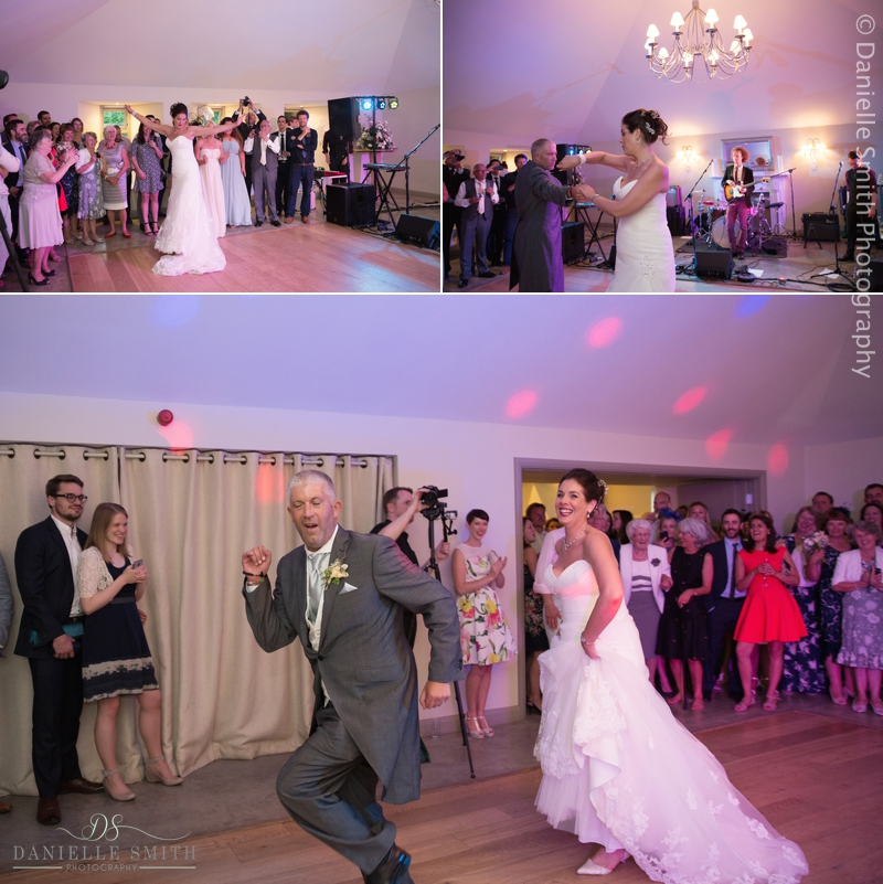 bride and groom fun first dance
