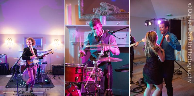 band singer and drummer at wedding