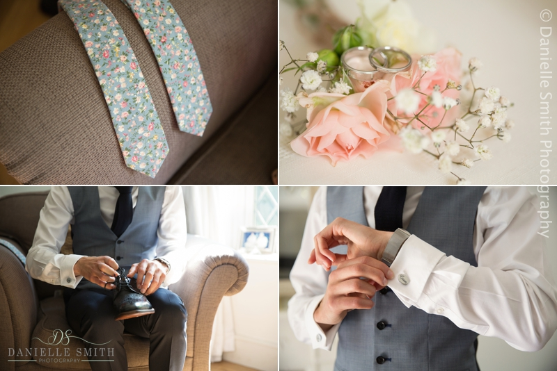 grooms details while getting ready