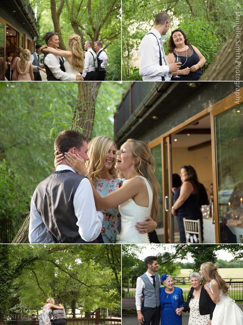 natural photos of guests at wedding