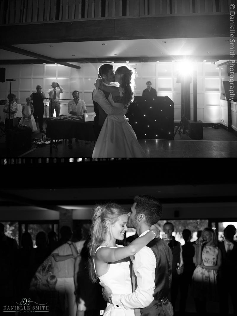bride and groom first dance - old brook barn wedding