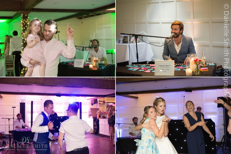 guests dancing at old brook barn wedding