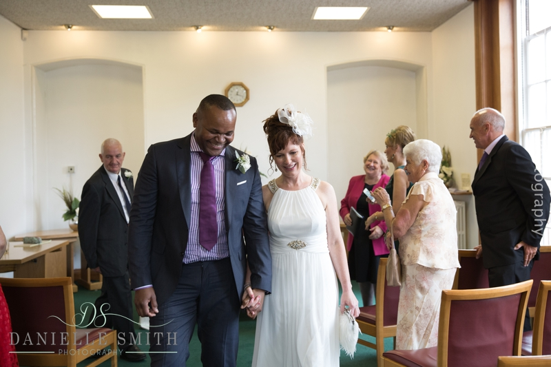 bride and groom just married - intimate wedding brentwood