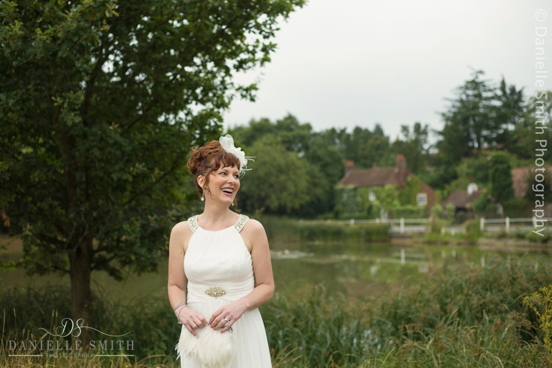 bride in gatsby style dress - intimate wedding brentwood