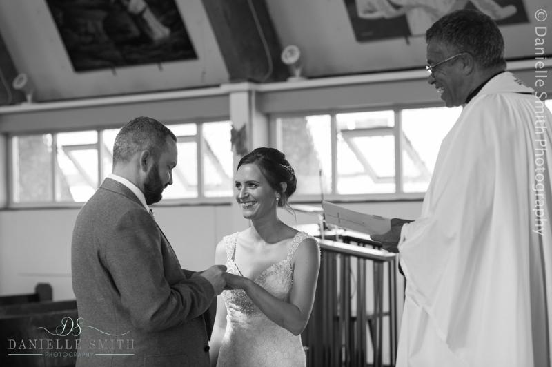 gbride and groom during wedding vows- arlington ballrooms wedding
