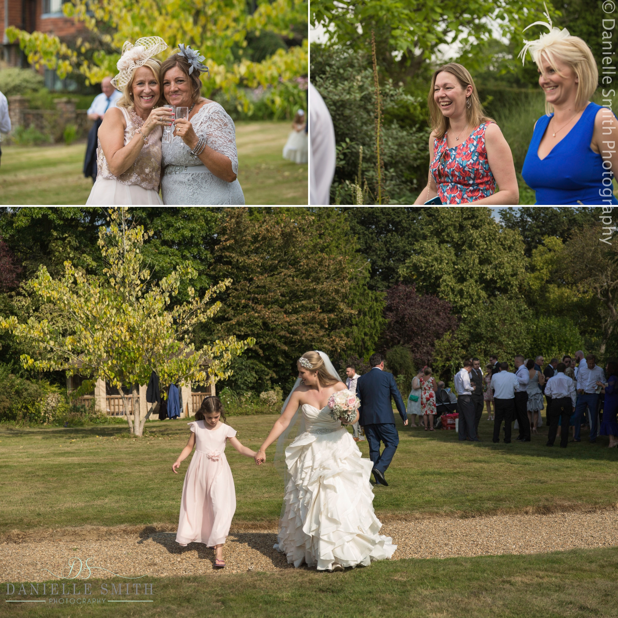 wedding guests in gardens