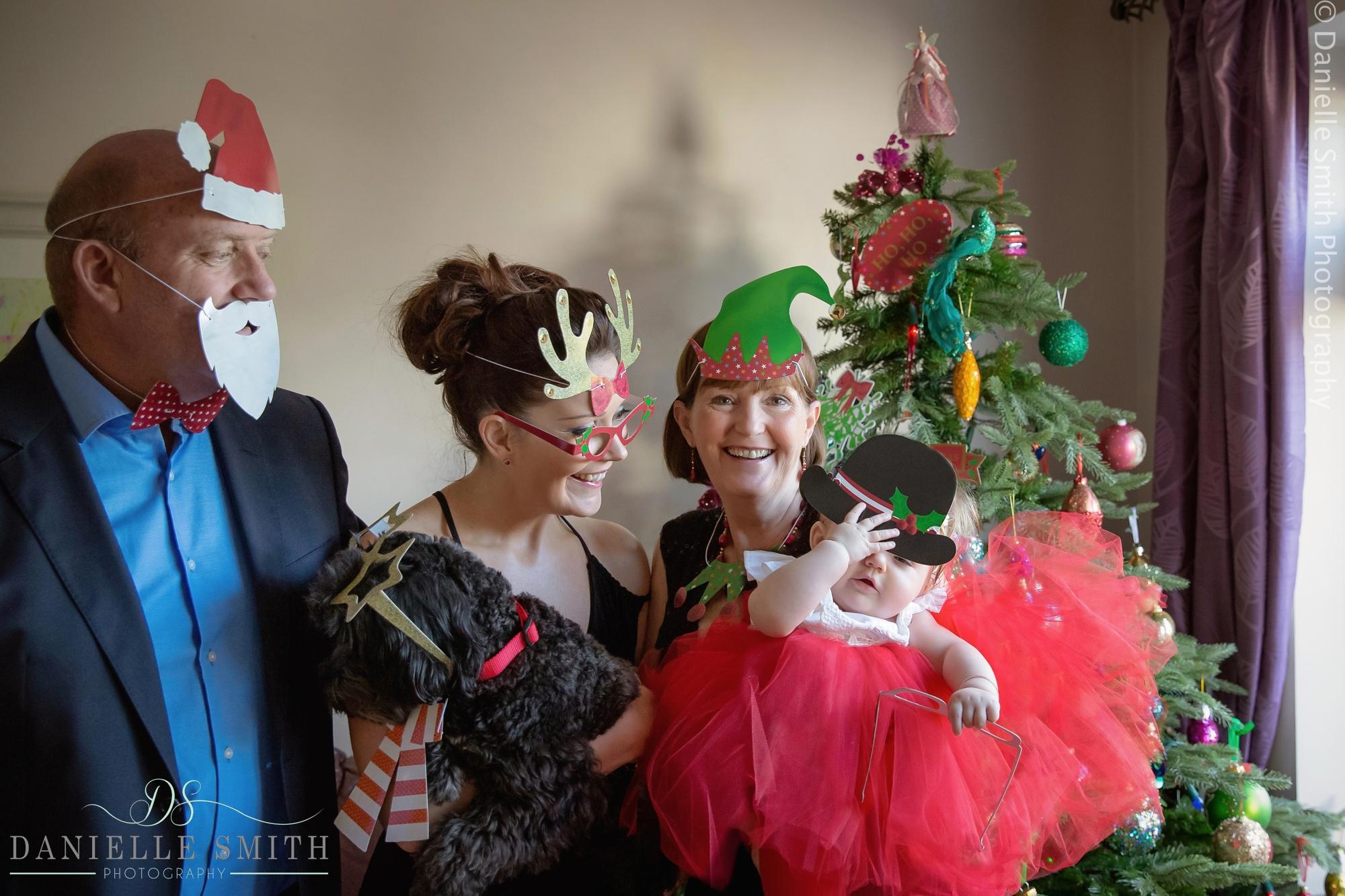 funny christmas family photo