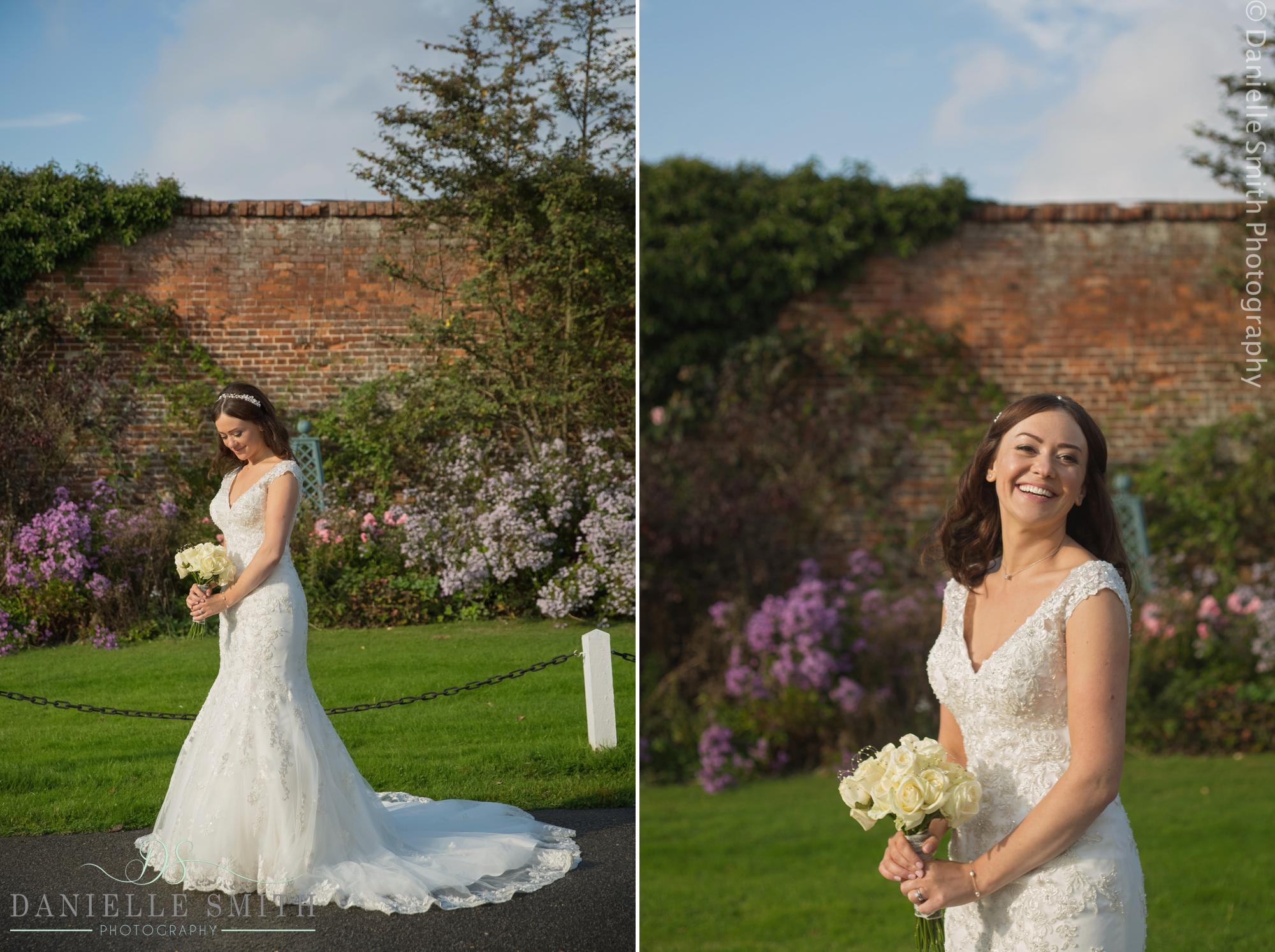 bride in her stunning wedding dress